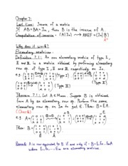 Linear Algebra Chapter 7