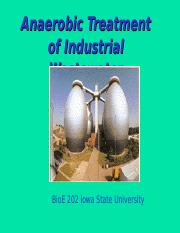 Anaerobic treatment and biogas (short)