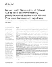 Rosen (2012) Mental Health Commission of Different Sub-species.pdf