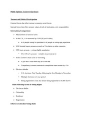 POS 4233 Controversial Issues Notes