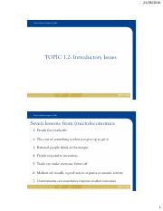 TOPIC 1.2 - KEY INTRODUCTORY ISSUES 2016 - STUDENT VERSION - TC