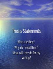 Thesis Statements.ppt