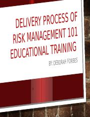 Delivery Process of Risk management 101.pptx