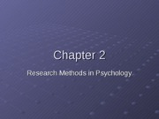 Chapter 2, Research Methods