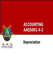 Chap 5 Depreciation