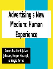 Advertising's New Medium- Human Experience (1)