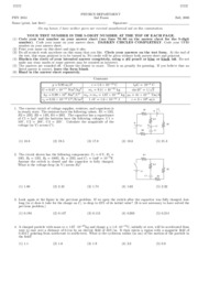 PHY2054 - Fall 2006 Exam 2