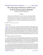 Theoretical Defences of LIFO