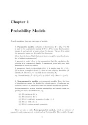 Chapater1 Probability Models & Chapater2 Principles of Data Reduction