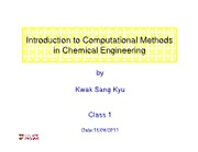 ClassNote1_Introduction to Computational Methods
