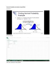 Normal Probability Calculations Using PHStat.docx