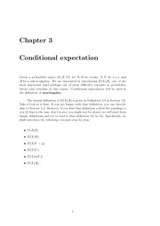 Chapater3 Conditional expectation
