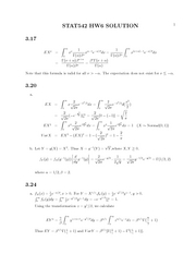 Stat 542 Eulers Constant Homework Solutions
