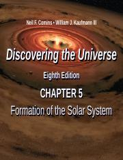 DTU 8e Lecture PPT Chap 5 Formation of the Solar System v2.ppt