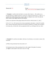 Physics 325 Spring 2011 Homework 3