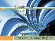 Chapter 13 - Disability Discrimination