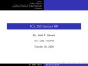 ICS253_Lecture_09