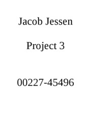 Jacob Jessen Project 3
