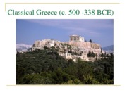 Classical Greece 4(1)