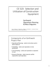 9 - Earthwork planning and mass diagrams