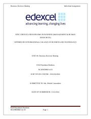 BTEC EDEXCEL HND DIPLOMA IN BUSINESS