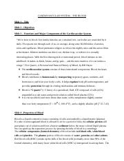 CARDIOVASCULAR SYSTEM-Blood1 (lecture notes).docx