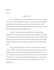 art art appreciation n arizona page course hero 2 pages art100 inspiration essay