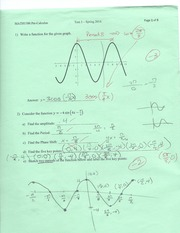 Pre-cal sin graph and function Practice Test
