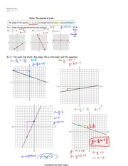 Graphing Linear Equation Notes