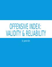 Offensive Index (Students)(1)
