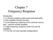 Chapter 7 Frequency Response1