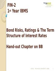 FIN-2Lecture 9-The Term Structure of Interest Rates and Yield Derivation