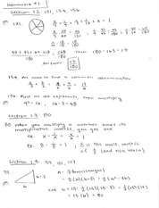 Math 002 Chapter 1 and 2 Homework Problem solutions