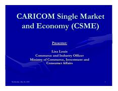 disadvantages of csme The csme has enhanced the migration or free movement of certain categories of qualified professionals,  impact of migration on children in the caribbean 6.