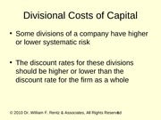 ch20 Divisional Cost of Capital