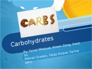 Carbohydrates Projects.pptx