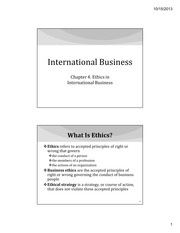 IB Chapter 04 - Ethics in International Business