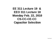 CSCCCECC Capacitor Selection Lecture 19_1