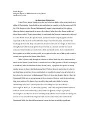 religion paper on jesus