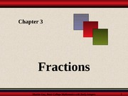 Chapter 3 - Fractions