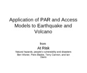 ApplicationToEarthquakesAndVolcanoes