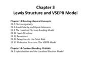 Ch 3 - Lewis Sturcture and VSEPR Model