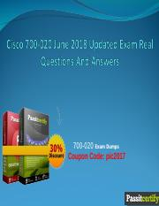 Cisco 700-020 June 2018 Updated Exam Real Questions And Answers.ppt