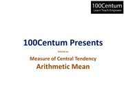 Central Tendency - Mean