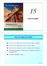 ch 15 (Cost of Capital)