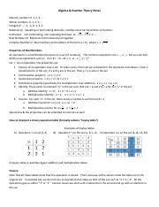 Algebra and Number Theory notes