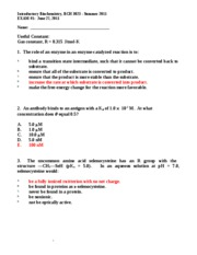 BCH_3023_Summer_2011_Exam_1_Answer_Key