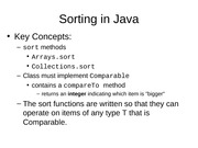 8.2 Sorting in Java