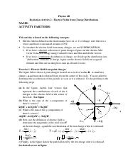 In class Activity 2 Electric Fields from Charge Distributions- Solutions.doc