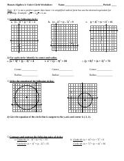 circles worksheet honors algebra 2 unit 4 circle worksheet name period note if r2 is. Black Bedroom Furniture Sets. Home Design Ideas